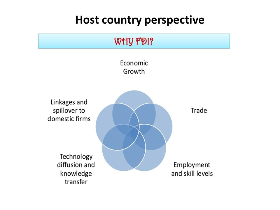 Host country perspective