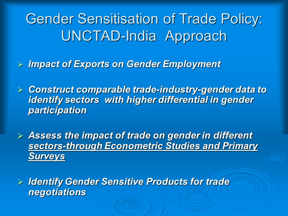 Impact of Exports on Gender Employment