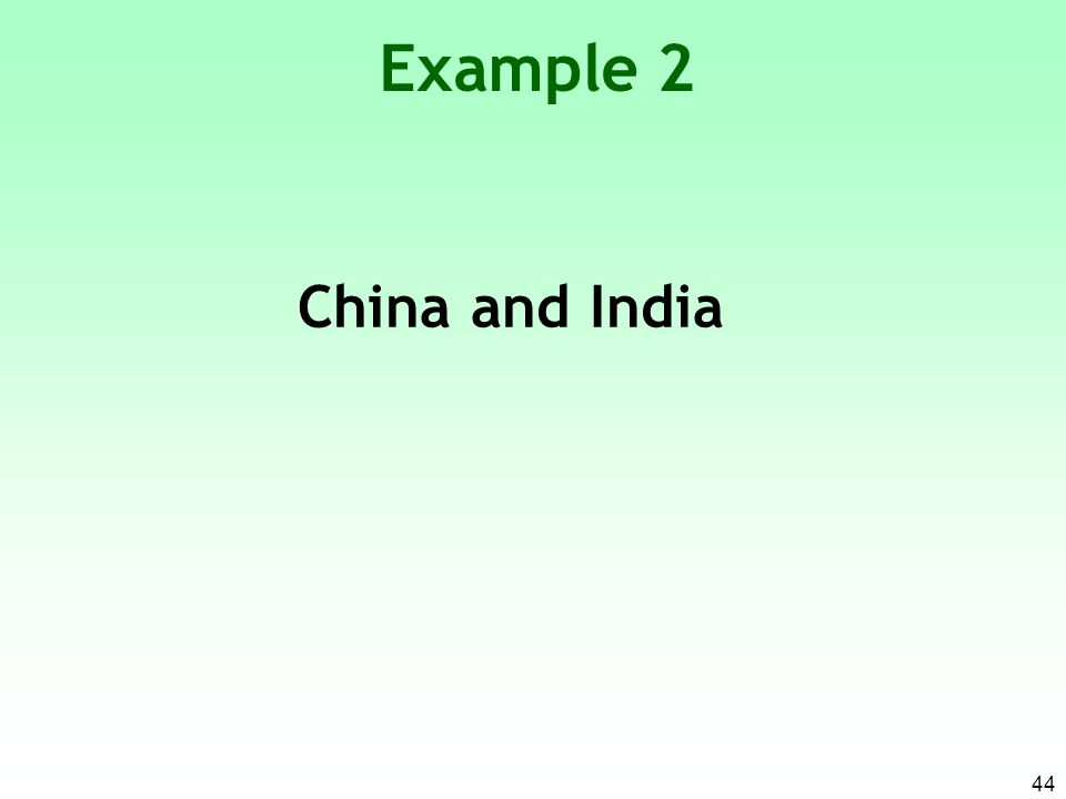 Example 2 China and India 44