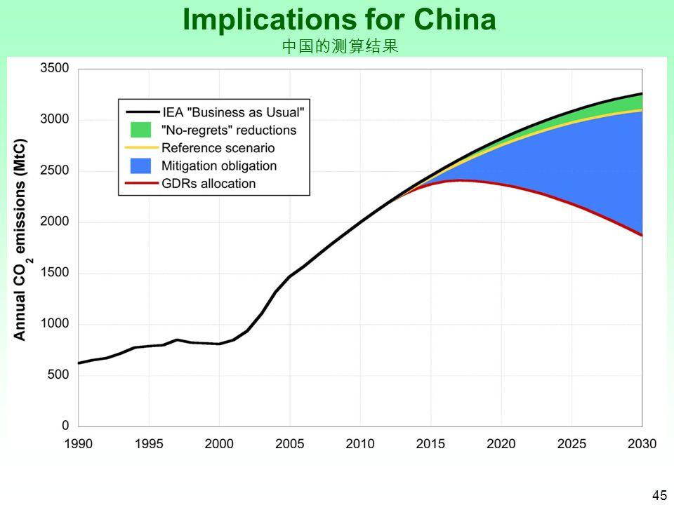 45 Implications for China 中国的测算结果