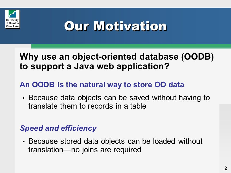23 Hollow Objects Two copies of an object exist when it's retrieved from the OODB public class PersonDAO{ private static Session session; private static Database db; private OSHashMap allPersons; //...