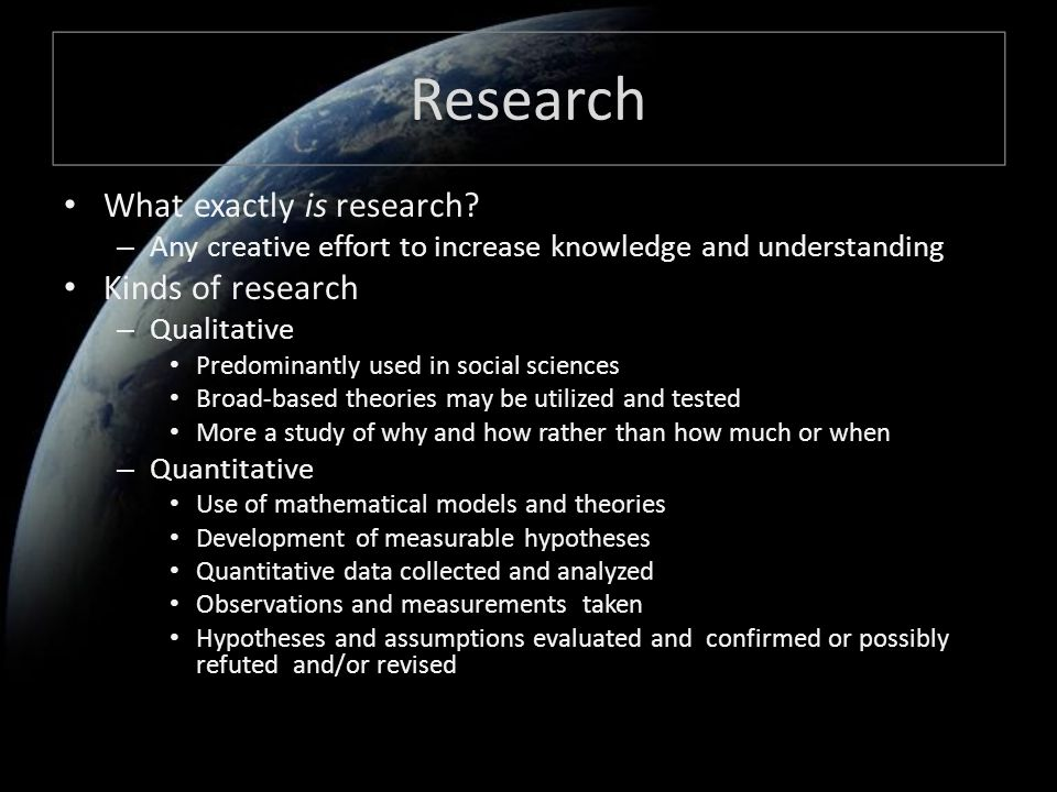 Research What exactly is research.