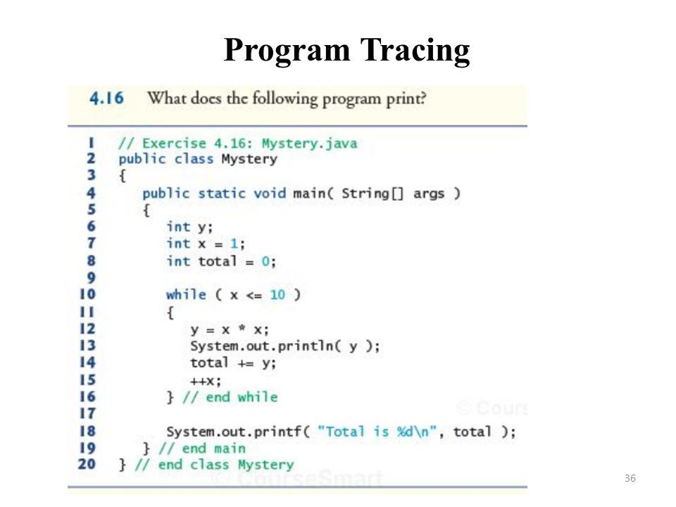 36 Program Tracing