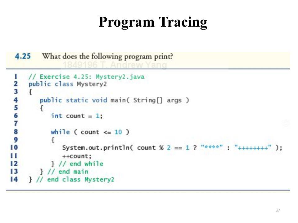 37 Program Tracing