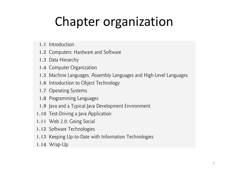 Chapter organization 3