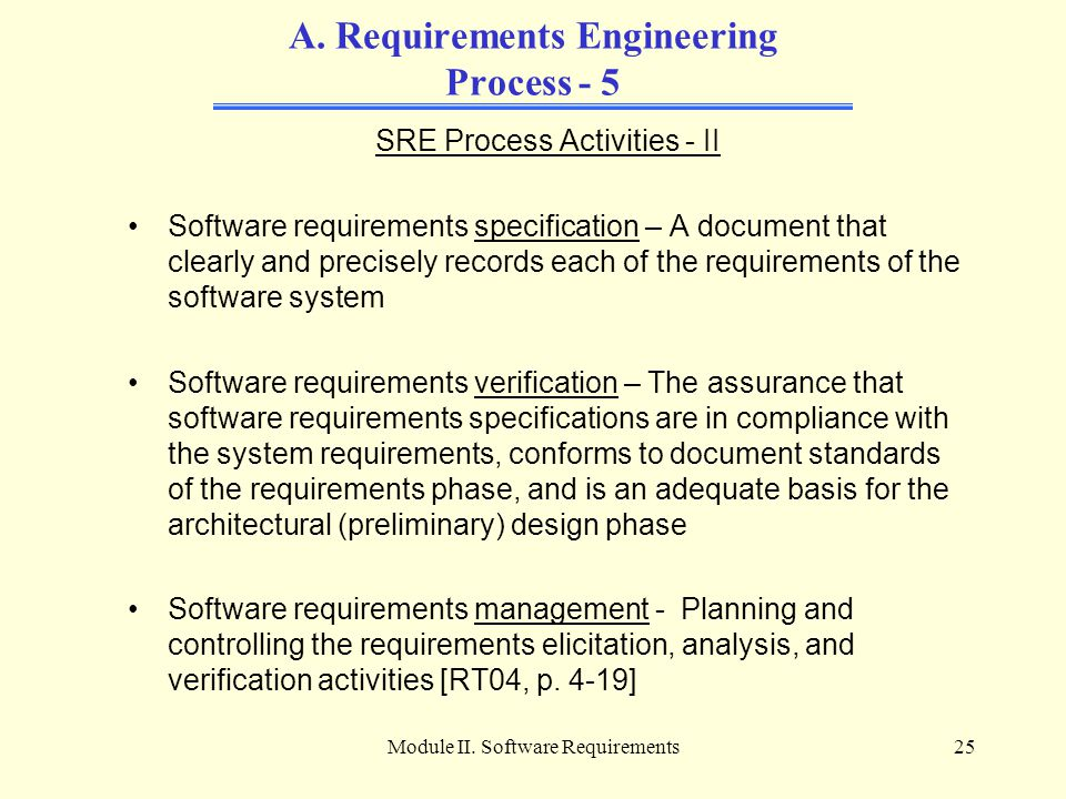 Module II.Software Requirements25 A.