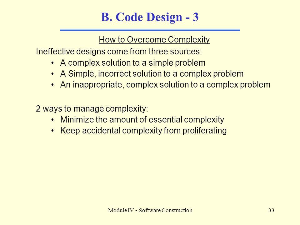 Module IV - Software Construction33 B.