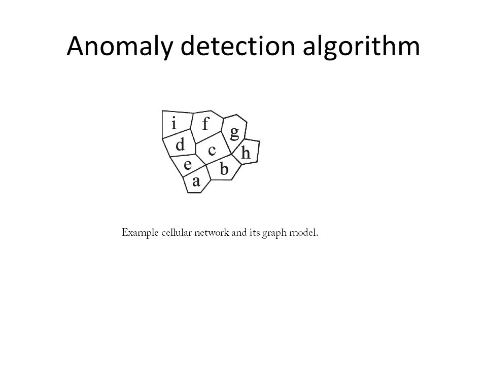 Anomaly detection algorithm