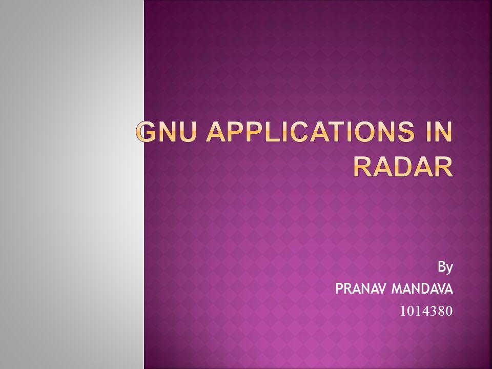 REFERENCES :- 1.A GNU Radio Based Software-Defined Radar by Lee K.
