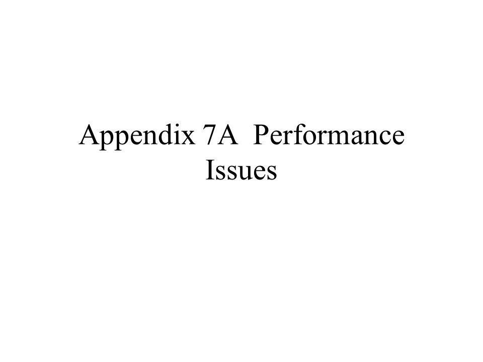 Appendix 7A Performance Issues