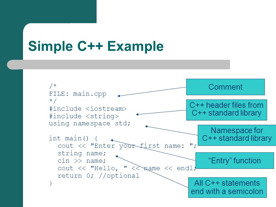 /* FILE: main.cpp */ #include using namespace std; int main() { cout <<
