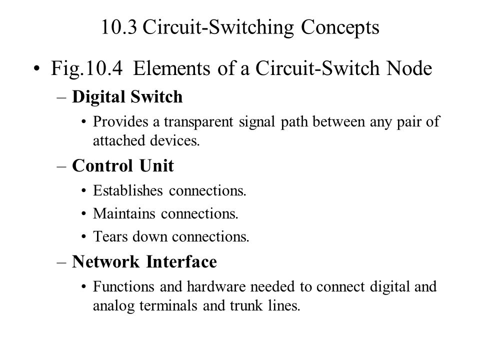 Problem 10.4 Consider the delay across a network.–Let B= data rate on every link.