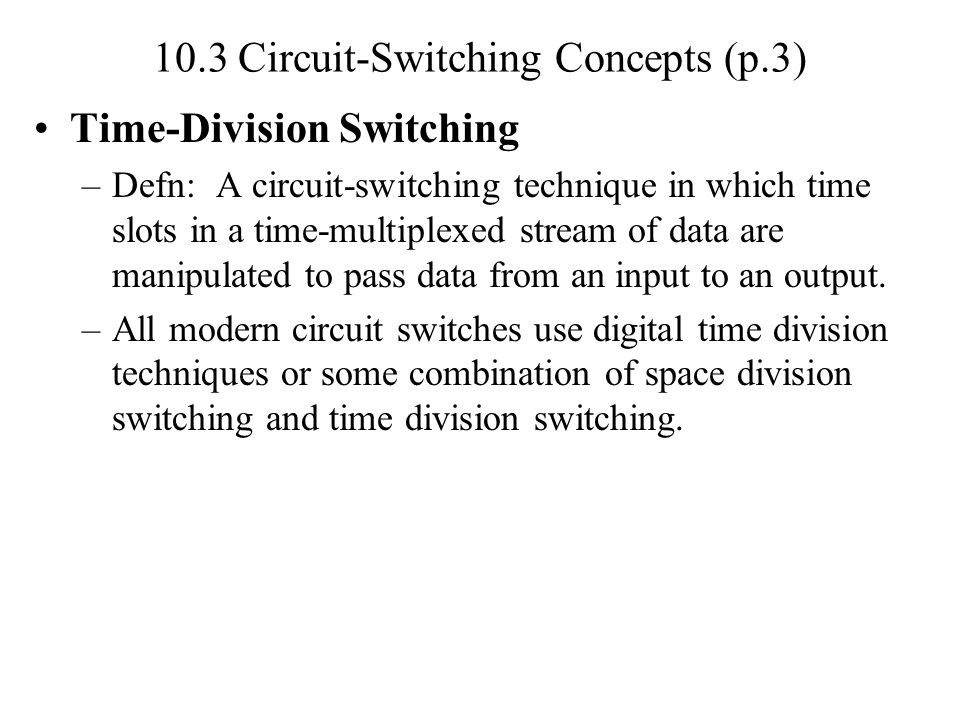 10.4 Softswitch Architecture Specialized software is run on a computer that turns it into a smart phone switch (Fig.10.10).