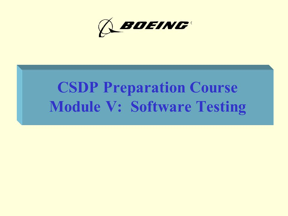 Module V.Software Testing21 A.