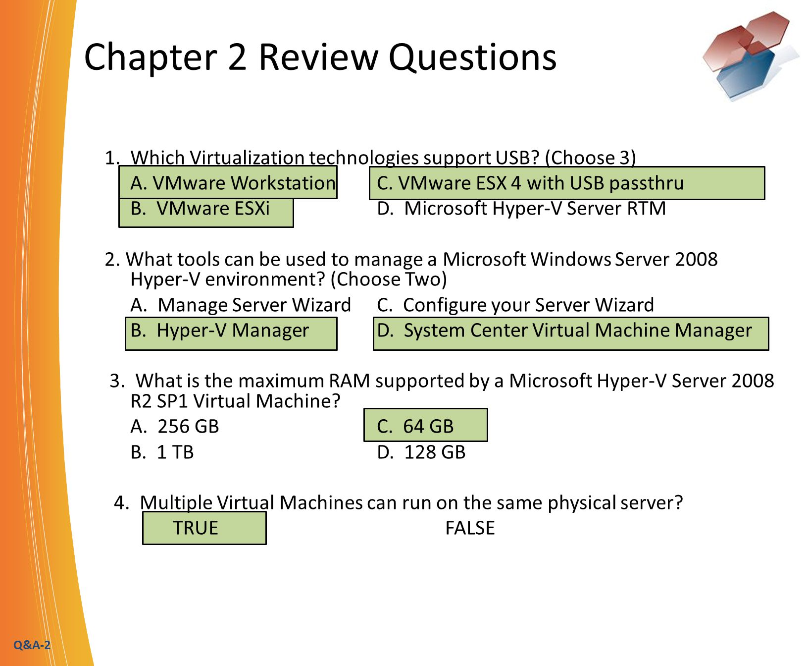 Q&A-3 Chapter 3 Review Questions 1.
