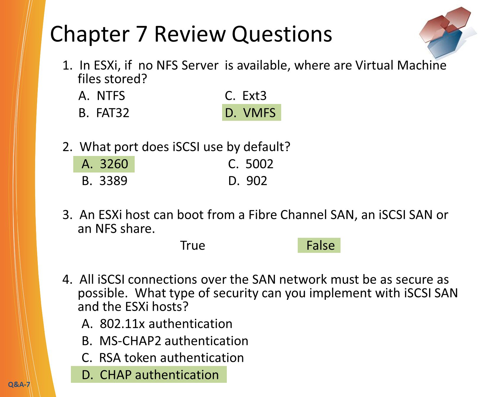 Q&A-8 Chapter 7 Review Questions 5.