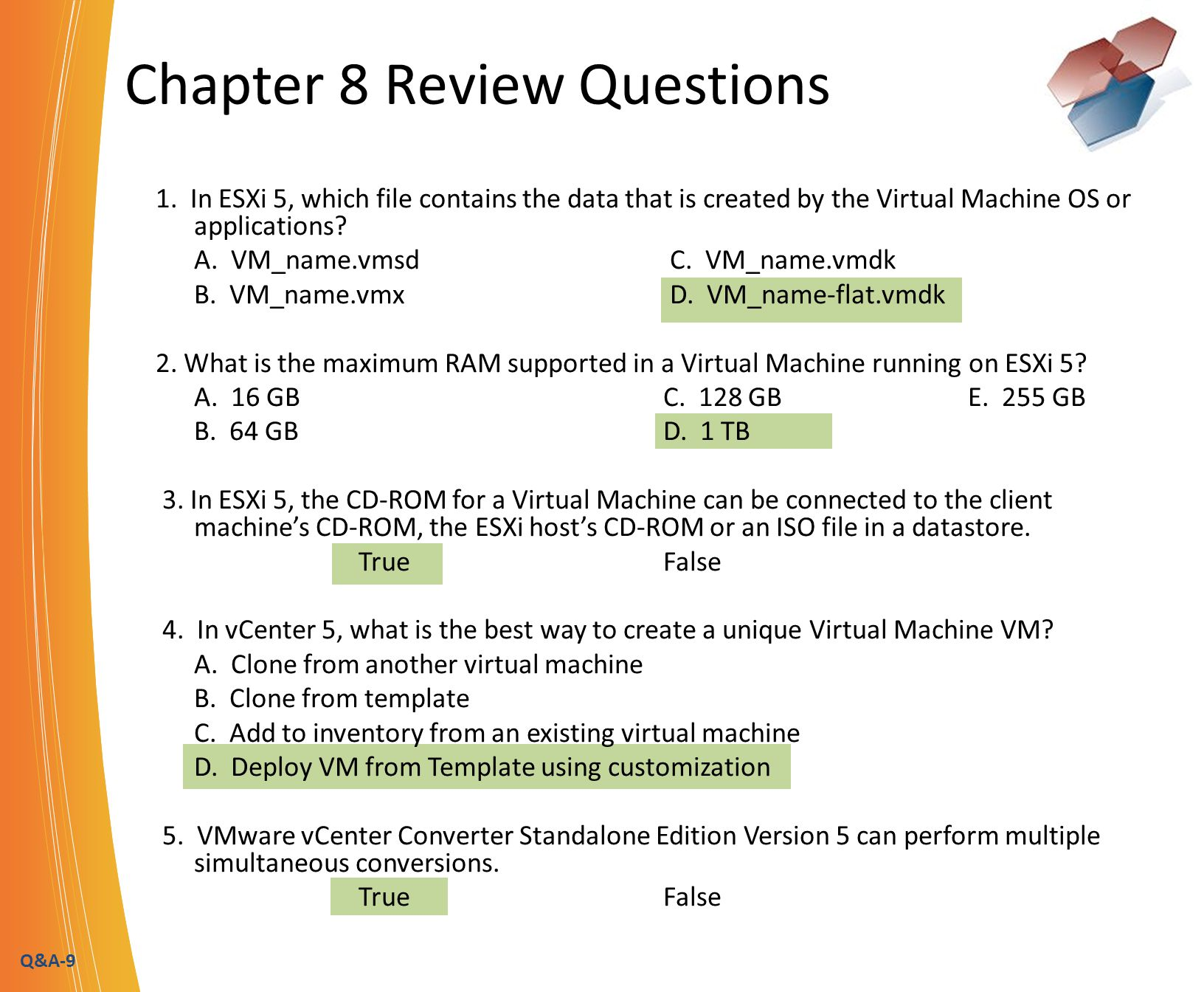 Q&A-10 Chapter 9 Review Questions 1.