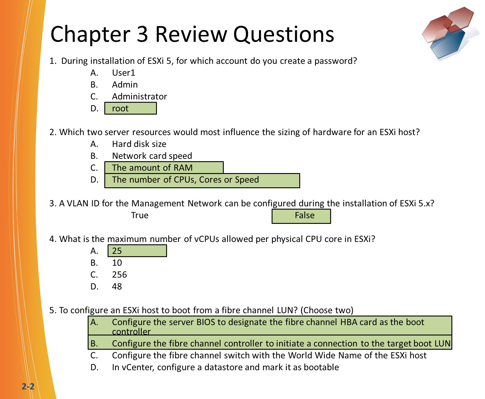 2-2 Chapter 3 Review Questions 1.