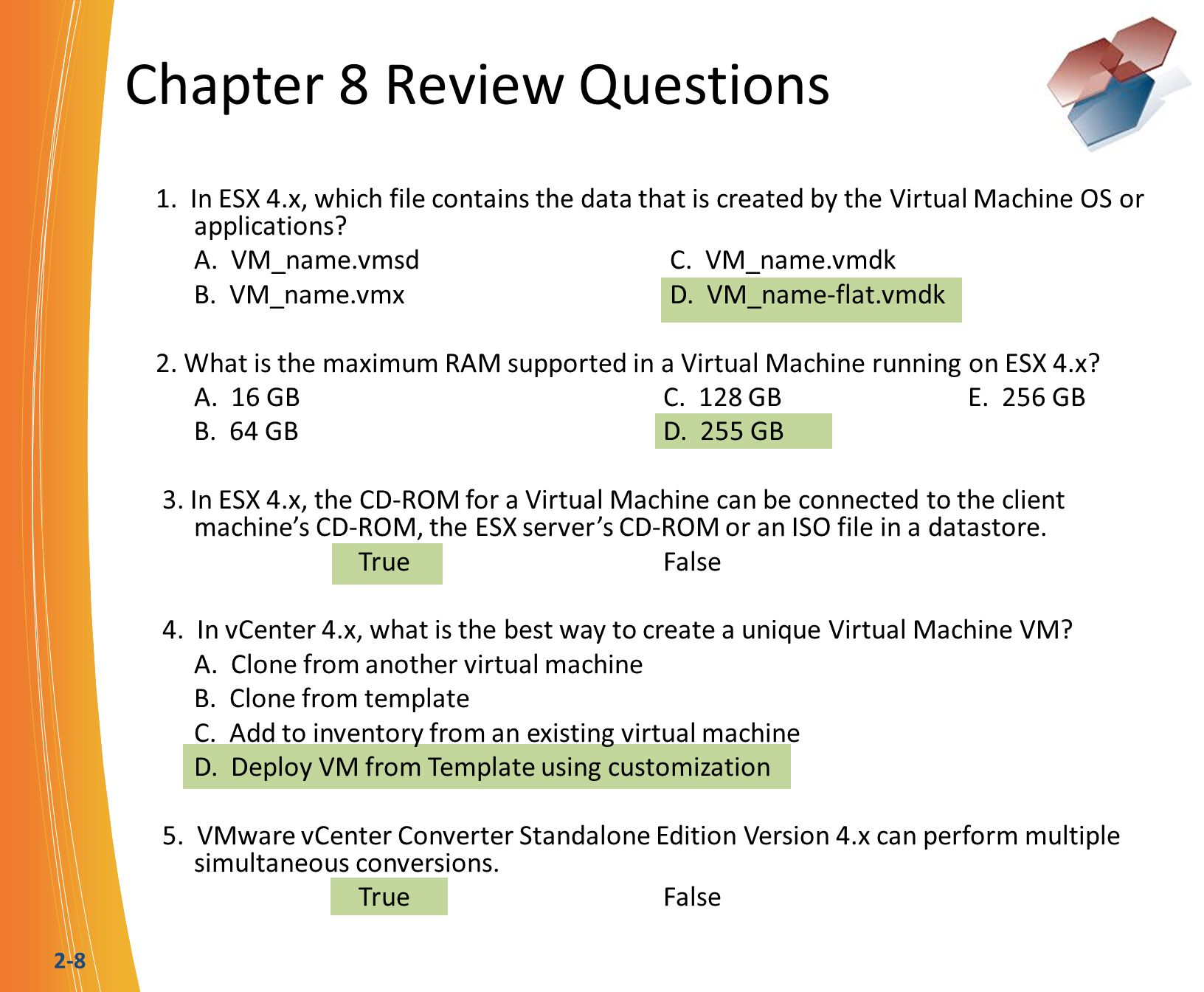 2-9 Chapter 9 Review Questions 1.