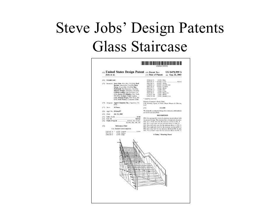 Steve Jobs' Design Patents Glass Staircase