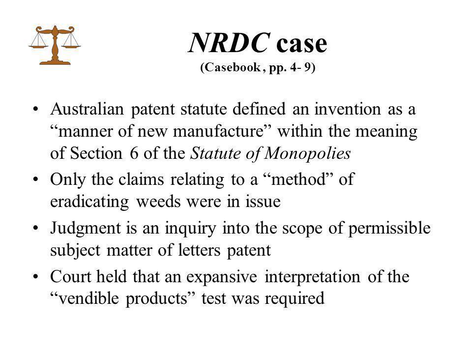 NRDC case (Casebook, pp.