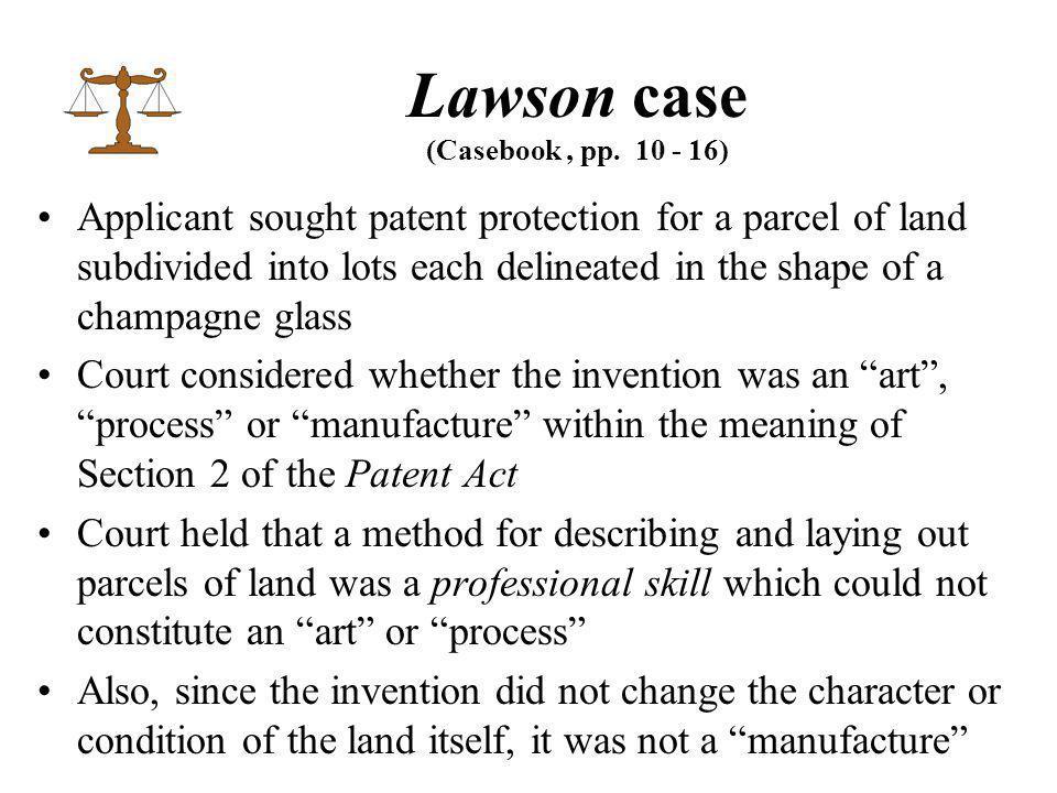 Lawson case (Casebook, pp.