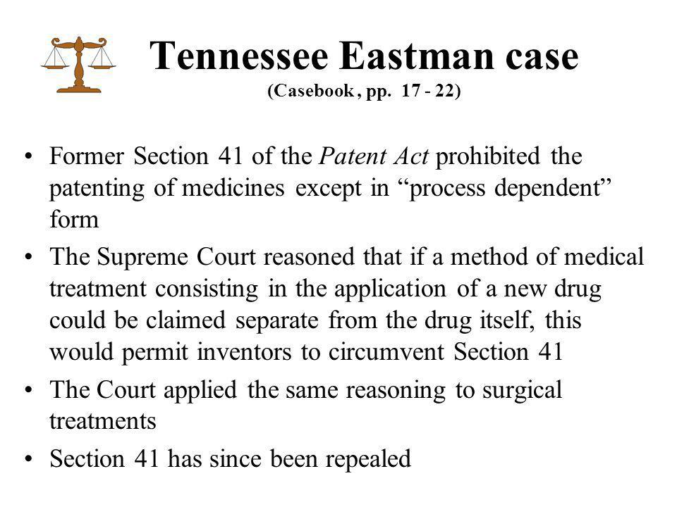 Tennessee Eastman case (Casebook, pp.