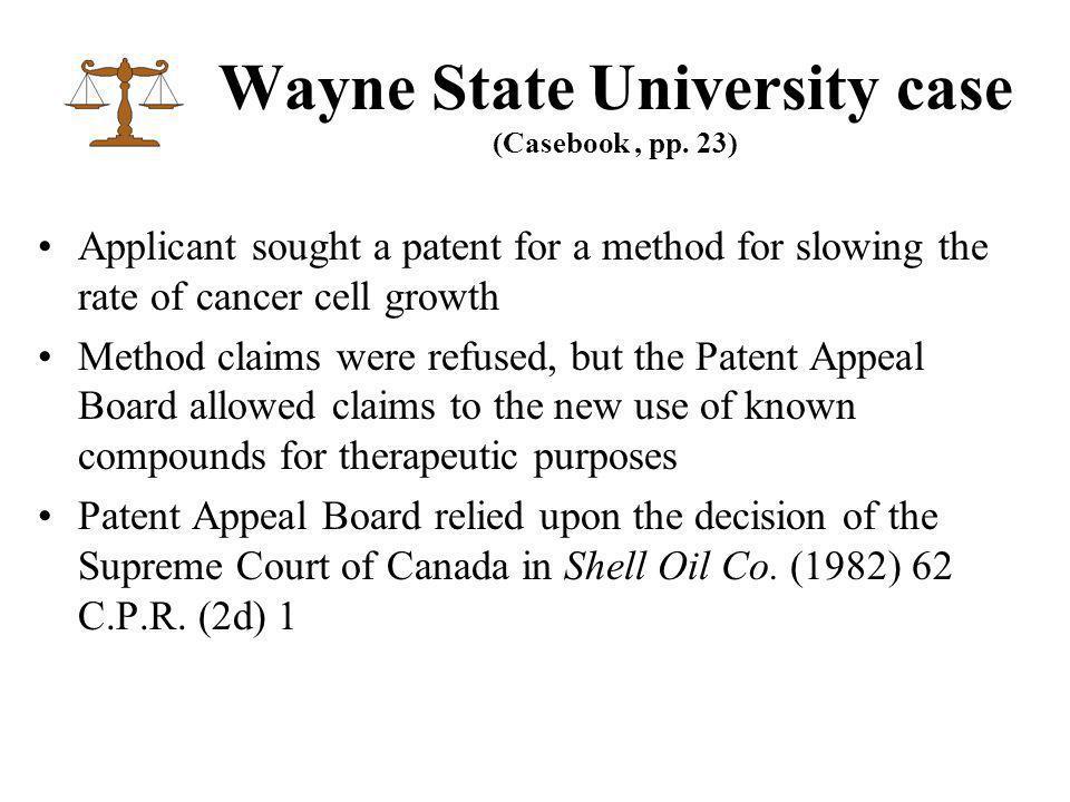 Wayne State University case (Casebook, pp.