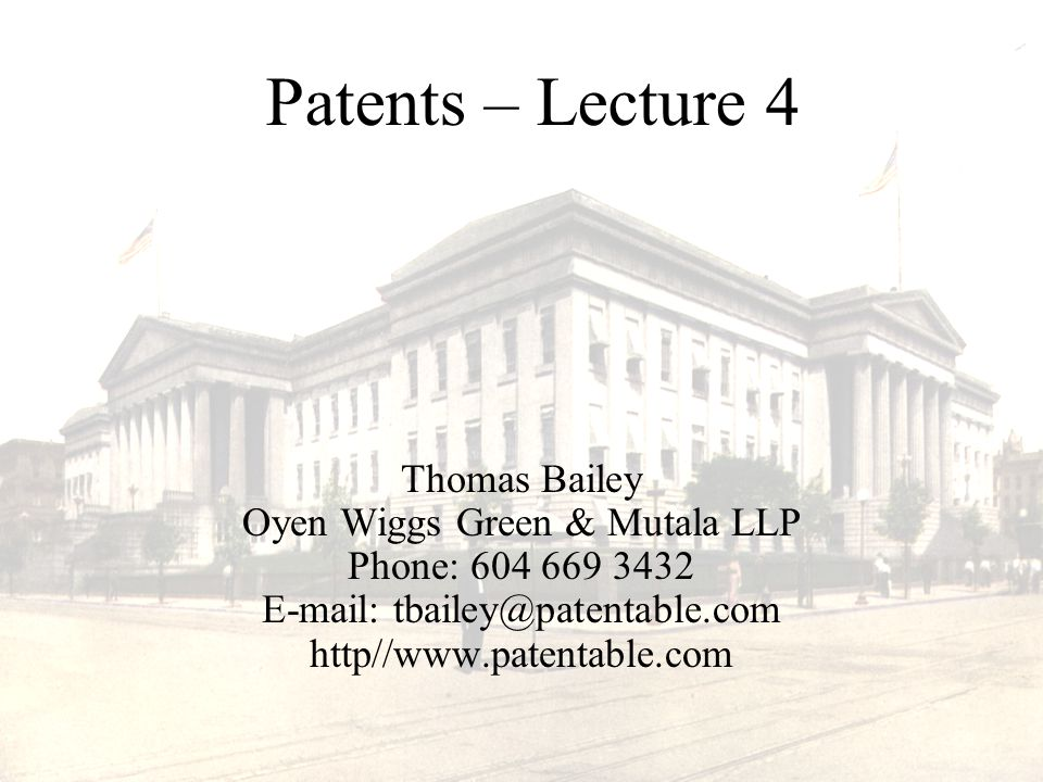 Course Materials Handouts –PowerPoint Slides –http://www.patentable.com/lectures/