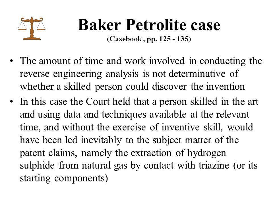 Baker Petrolite case (Casebook, pp.