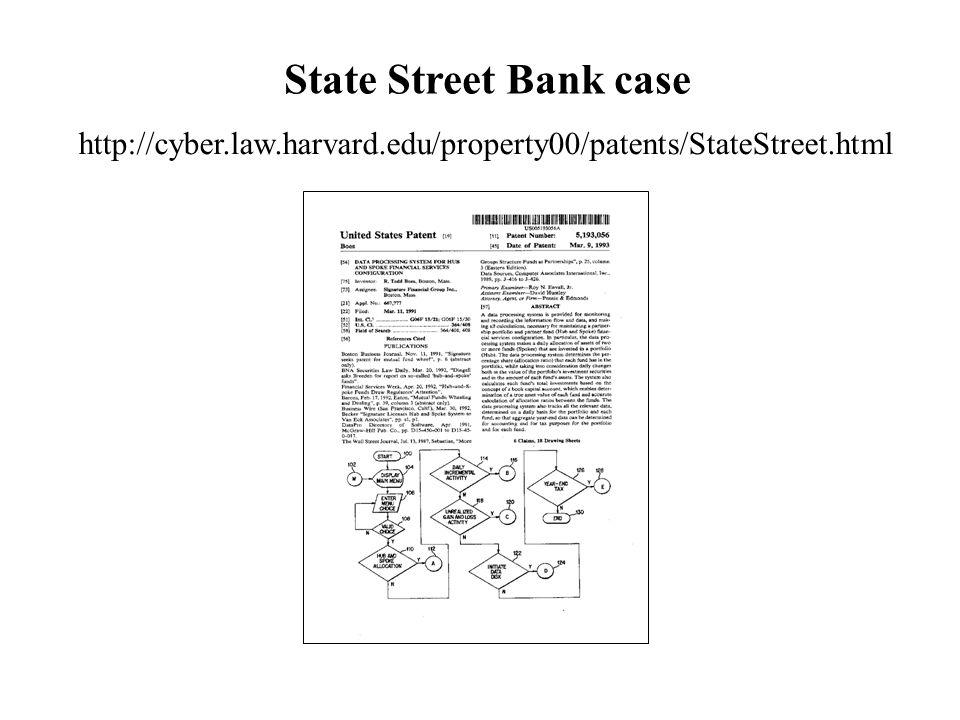 State Street Bank case http://cyber.law.harvard.edu/property00/patents/StateStreet.html
