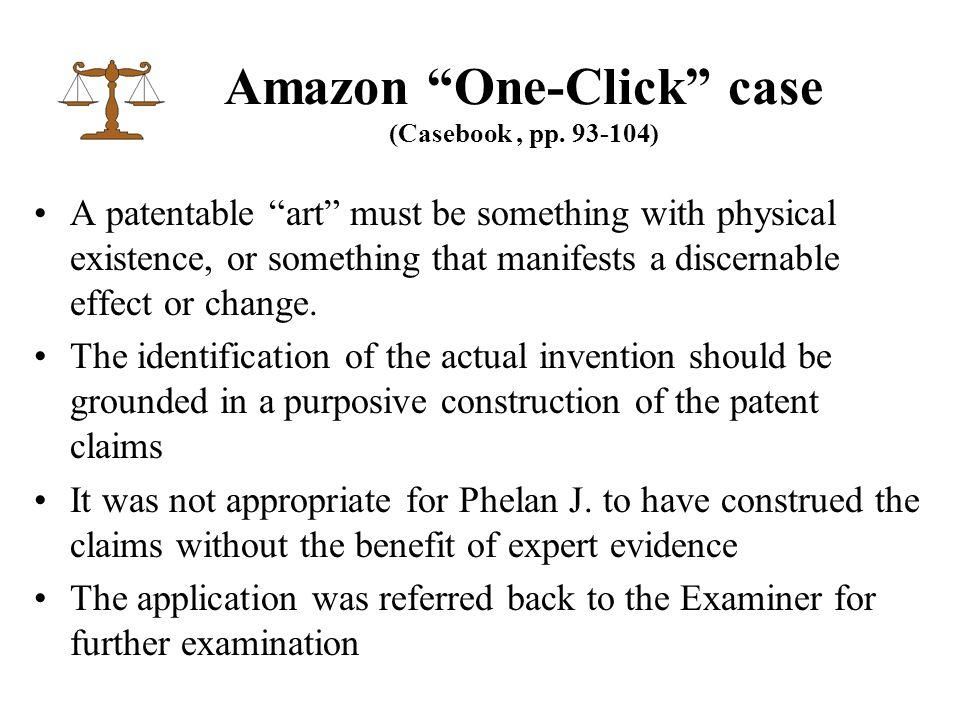 Amazon One-Click case (Casebook, pp.