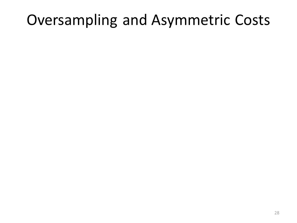 Oversampling and Asymmetric Costs 28
