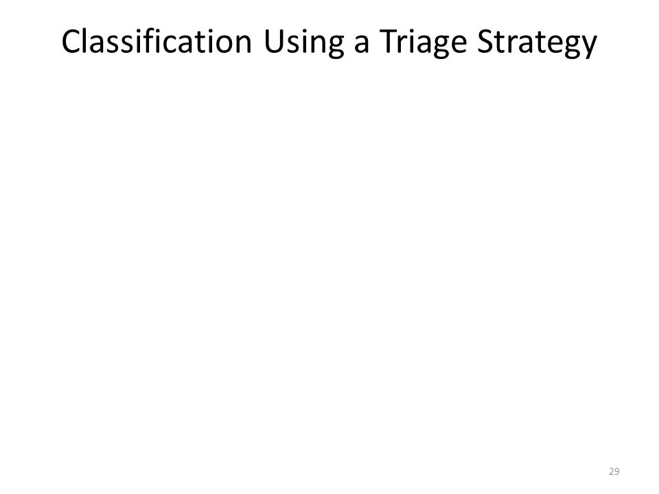 Classification Using a Triage Strategy 29