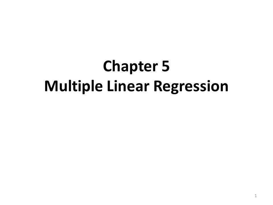 Introduction Fit a linear relationship between a quantitative dependent variable and a set of predictors.