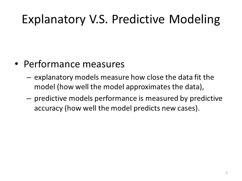 Know the goal of the analysis before beginning the modelling process.