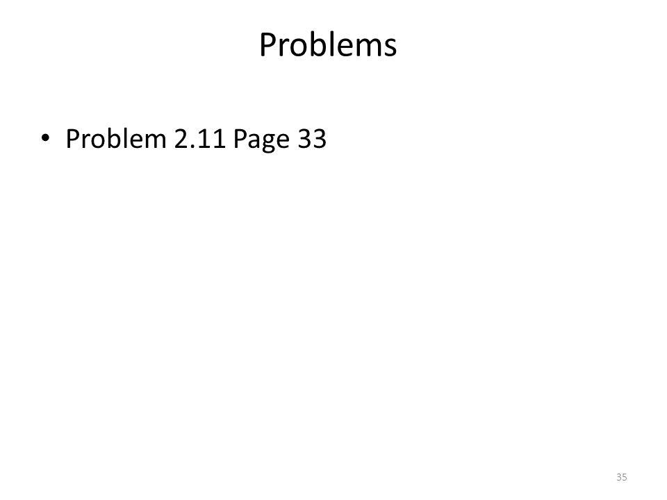 Problems Problem 2.11 Page 33 35
