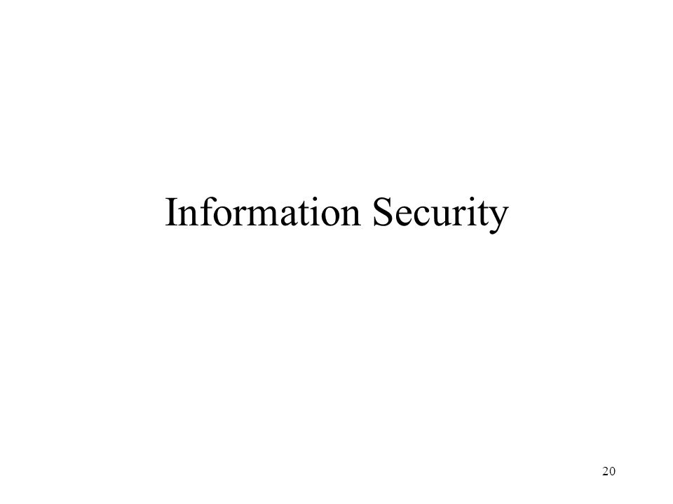 20 Information Security