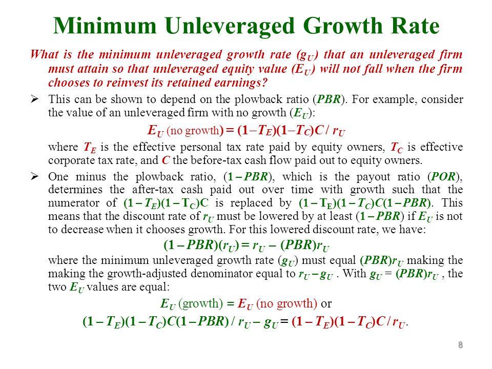 Consider G L = n 1 D + n 2 E U where n 1 = [1  (ar D /r Lg )] and n 2 = [1  (r Ug /r Lg )].