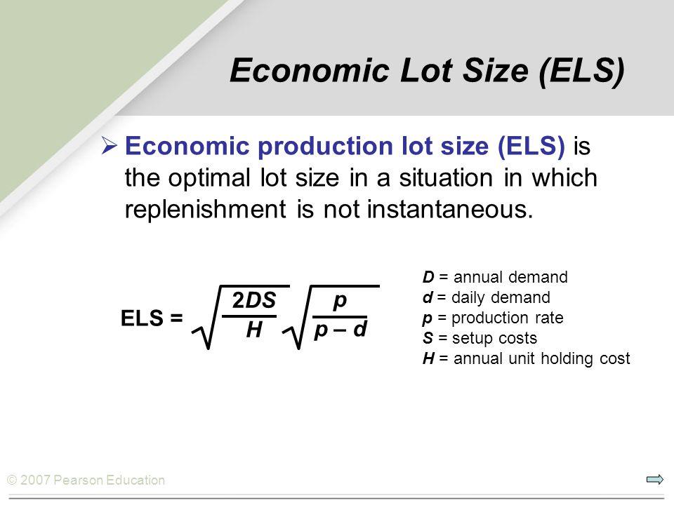 © 2007 Pearson Education Example D.3 OM Explorer Solution