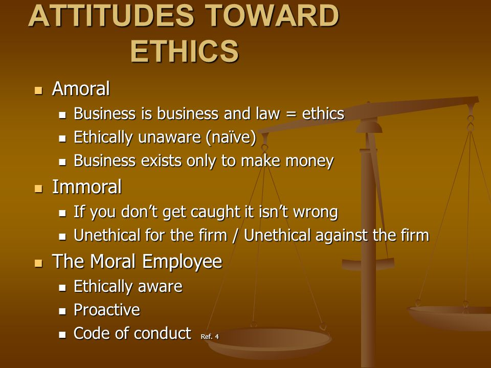 WHERE ACCOUNTANTS SHOULD BE IN THE ETHICAL SCHEME OF THINGS