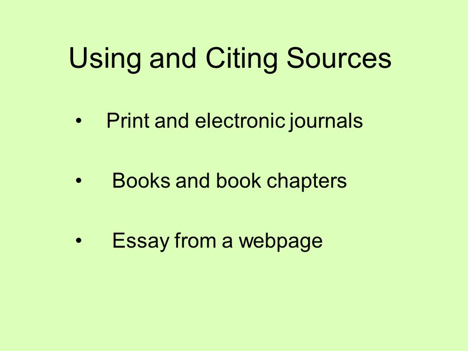MLA and Works Cited Pages: Journals, Books, and Webpages