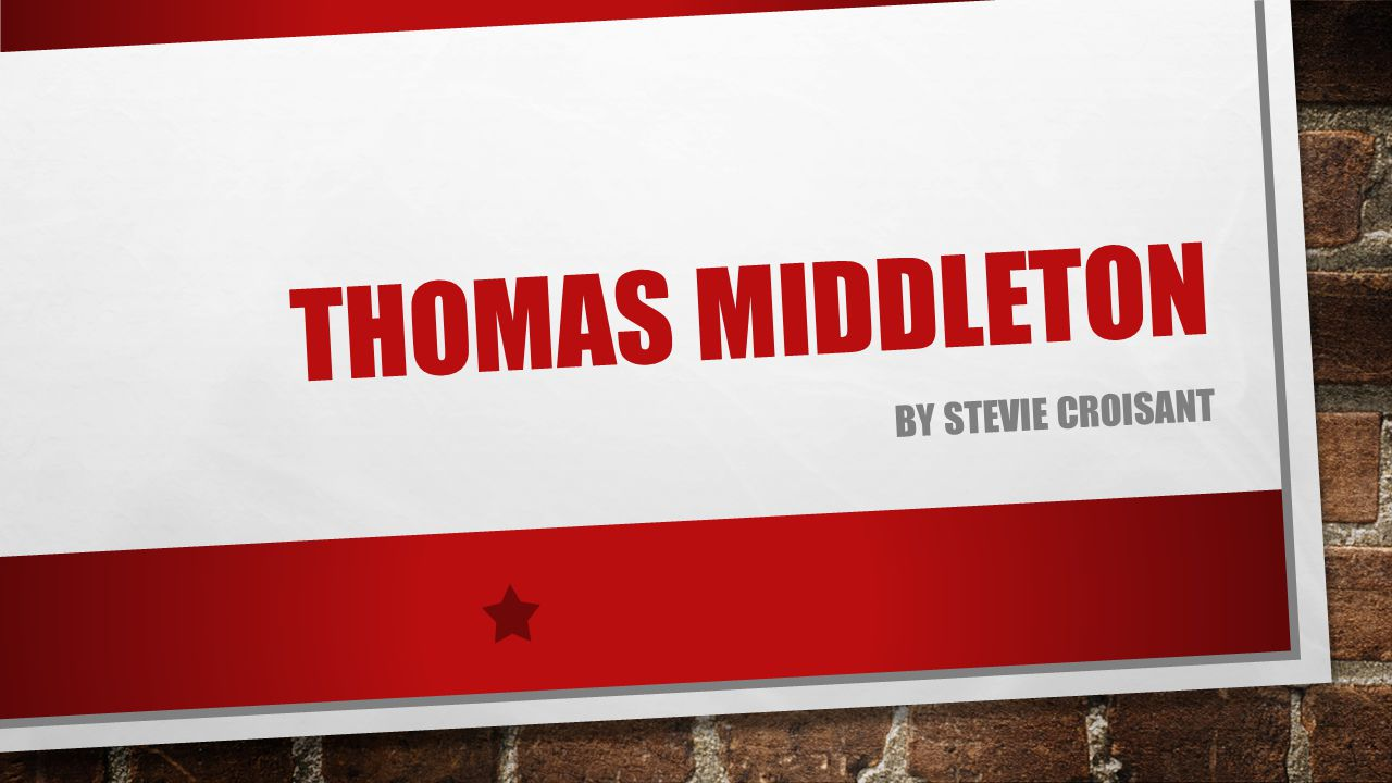 THOMAS MIDDLETON BY STEVIE CROISANT
