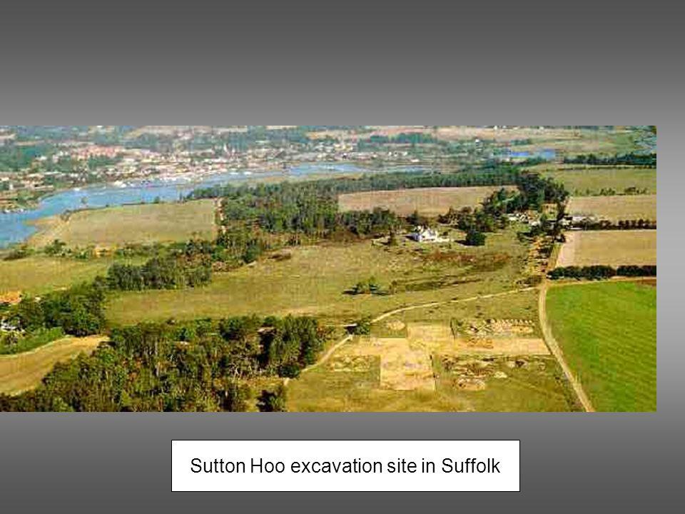 Sutton Hoo excavation site in Suffolk