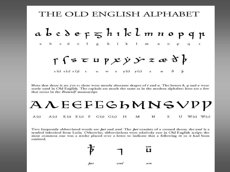 Old English 1.