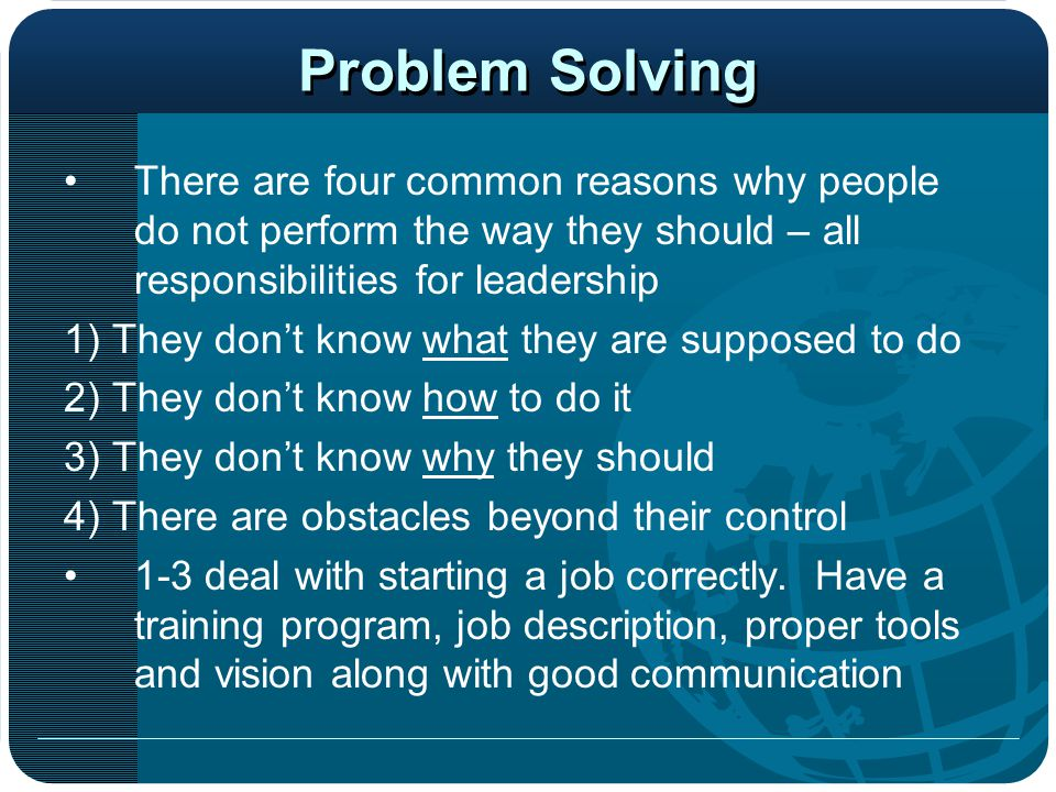 essays on problem solving What is problem solving problems are only opportunities in work clothes problems are at the center of what many people do at work every day whether you're solving a problem for a client (internal or external), supporting those who are solving problems, or discovering new problems to.