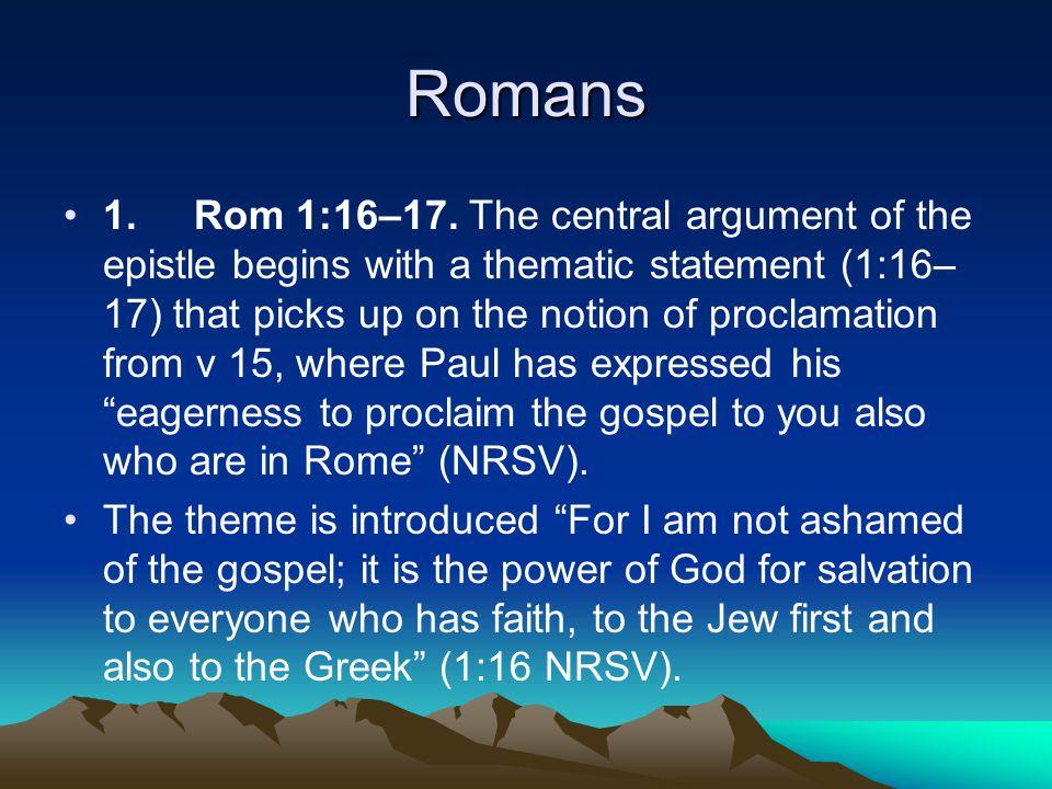 Romans 1. Rom 1:16–17.