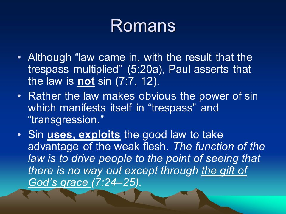 Romans 8 NEW LIFE IN THE SPIRIT--Spirit has a twofold function.