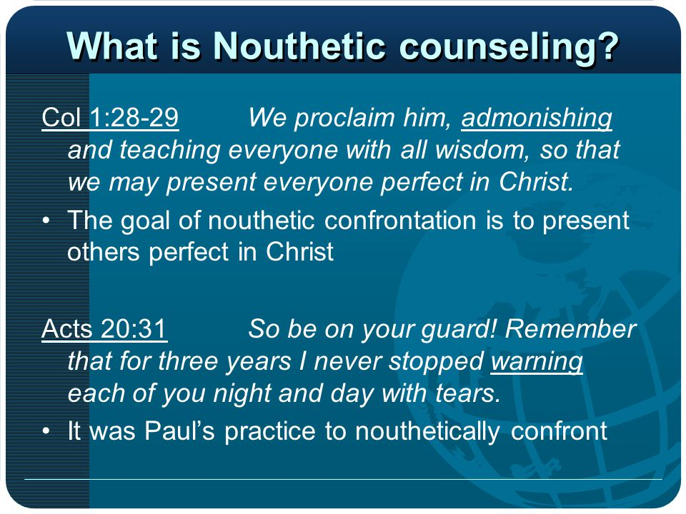 Greatest Resource The Holy Spirit is the first and greatest counselor He is the ultimate resource in counseling Counseling is the work of the Holy Spirit.