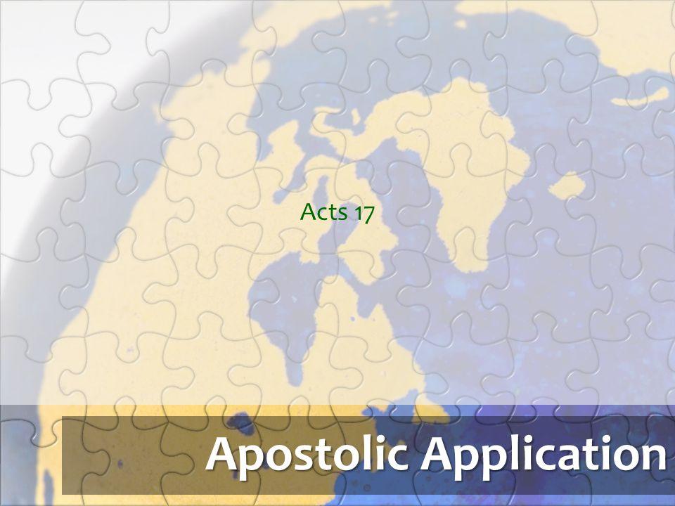 Apostolic Application Acts 17